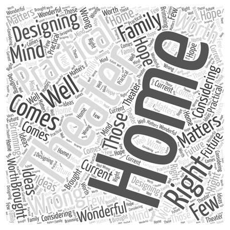 home theater: Home Theater Practicalities word cloud concept