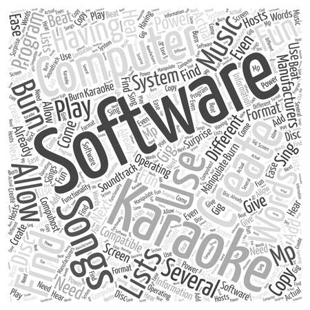 owning: Having Fun With Karoke Computer Software word cloud concept
