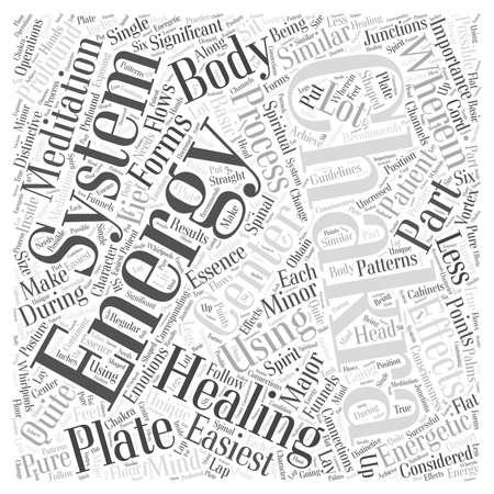 healing meditation word cloud concept Stock Illustratie