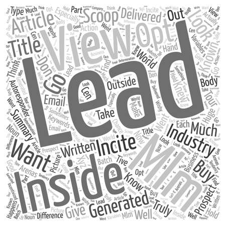 The Insider s View Into the MLM Opt In Leads Industry word cloud concept