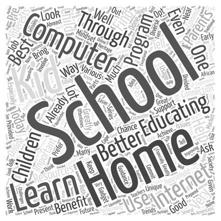 schooling: Home Schooling and Computer Learning word cloud concept