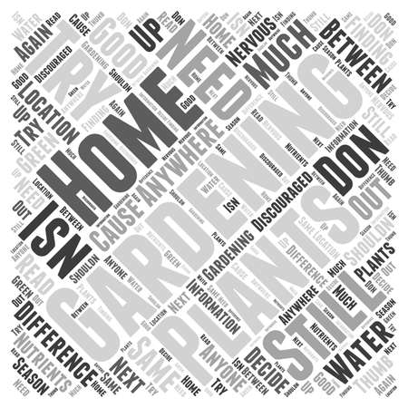 Home Garden word cloud concept