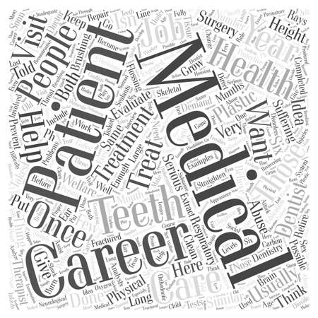 Health and Medical Careers word cloud concept Ilustração
