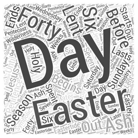 days: The Days of Easter word cloud concept Illustration