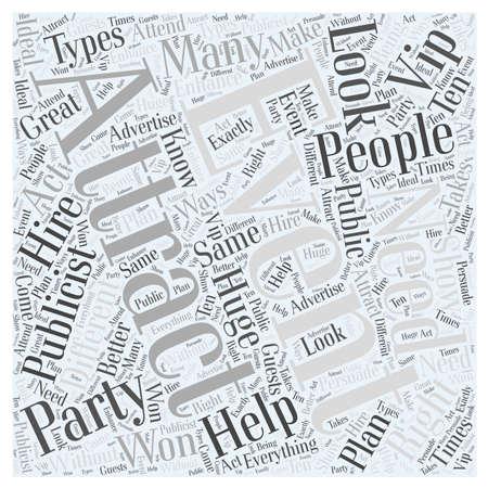 How To aantrekken van de juiste mensen om je evenement word cloud concept