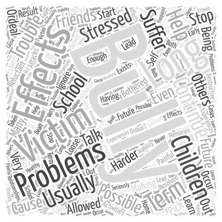 The Effects of Bullying word cloud concept