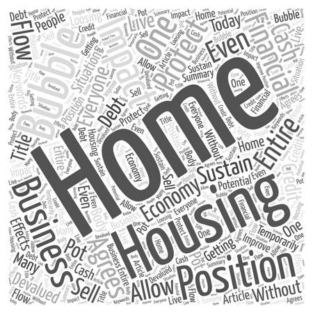 How A Home Business May Protect You From The Housing Bubble word cloud concept Ilustração