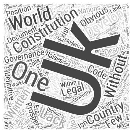 The UK Constitution word cloud concept Illustration
