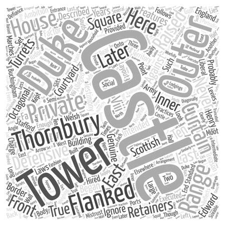 Thornbury Castle word cloud concept