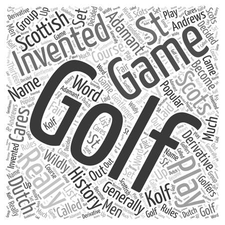 The History of Golf word cloud concept