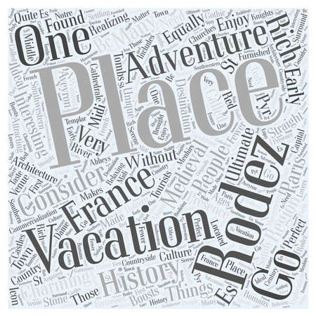 the ultimate adventure vacation in france word cloud concept Illustration