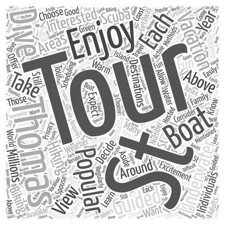 Guided Tours in St Thomas word cloud concept Illusztráció