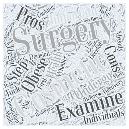 The Pros and Cons of Cosmetic Surgery word cloud concept