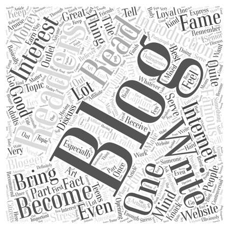 How to Become an Internet Sensation by Blogging word cloud concept