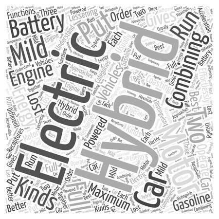 hybrid: how hybrid cars work word cloud concept