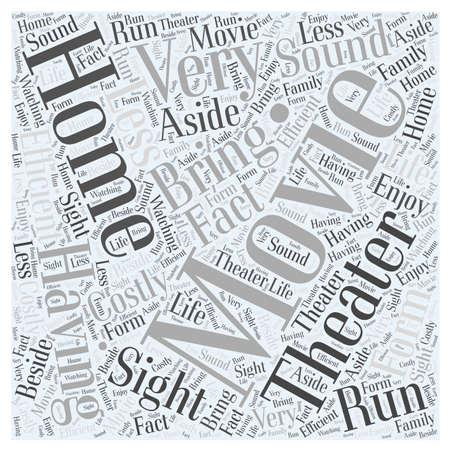 home movie theater word cloud concept Ilustração