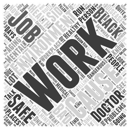 Healthy Aging and your Workplace word cloud concept