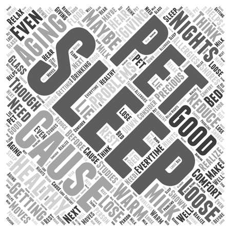 Healthy Aging and a Good Nights Sleep word cloud concept