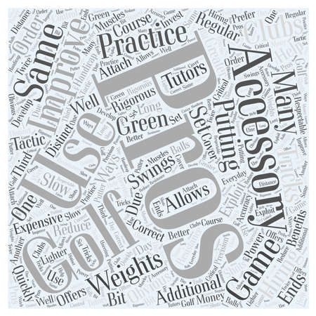 How Golf Accessories Can Improve Your Game word cloud concept