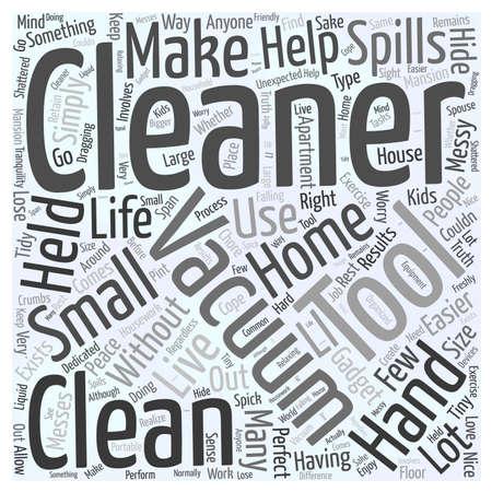held: Hand Held Vacuum Cleaner word cloud concept