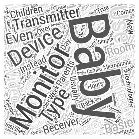 s video: The Different Types of Baby Monitors word cloud concept