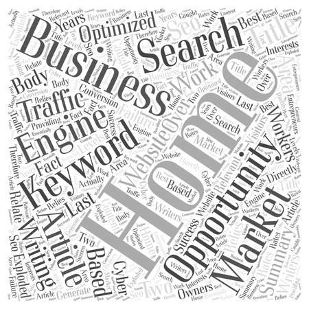 opportunity concept: Home Business Writing Opportunity word cloud concept Illustration