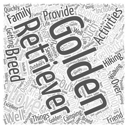 The Golden Retriever word cloud concept Stock Illustratie
