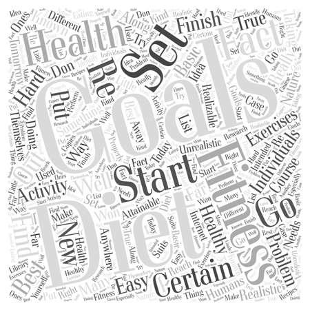 Gezondheid dieet fitness woord wolk concept