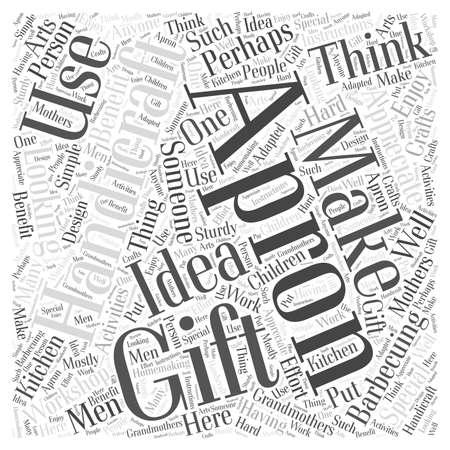 handicraft gift word cloud concept