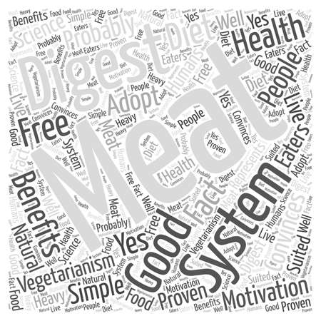The Good of Vegetarianism word cloud concept Vettoriali