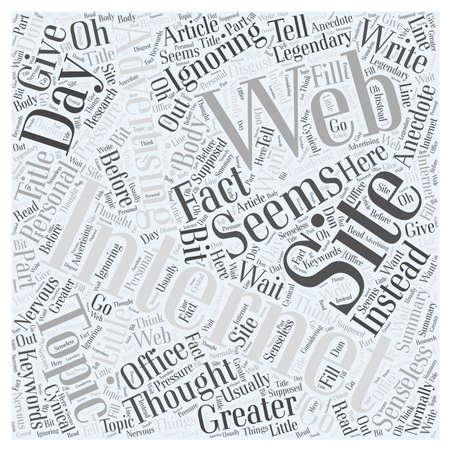 senseless: Internet Web Site Advertising Legendary word cloud concept