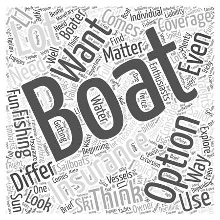 insurance policy: What to look for in a boating insurance policy word cloud concept