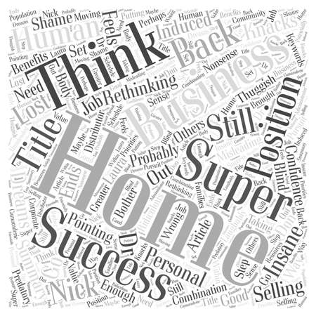 thuggish: Super Success With A Home Business word cloud concept Illustration