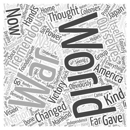 when: When Everything Changed word cloud concept Illustration