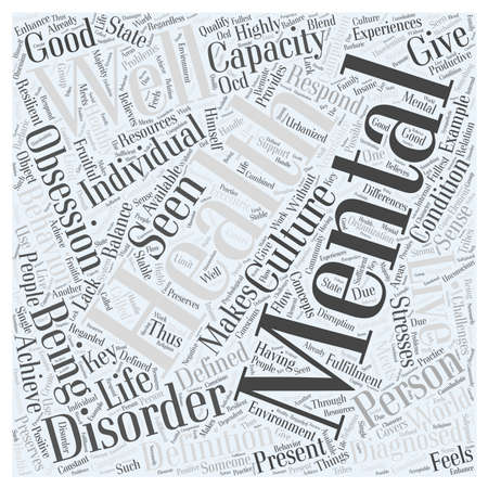 what is mental health word cloud concept