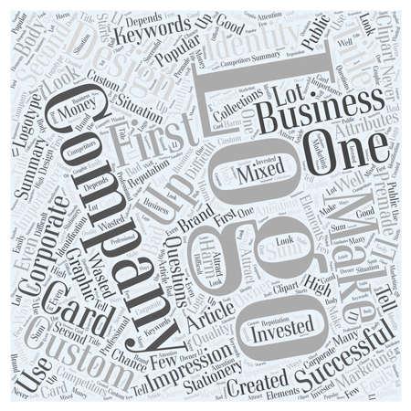 Importance of the Custom Company Logo Design word cloud concept