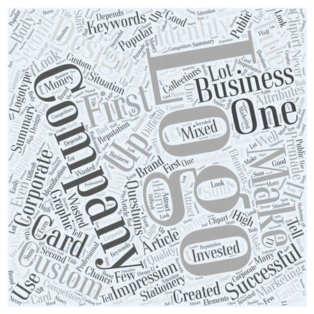 wasted: Importance of the Custom Company Logo Design word cloud concept