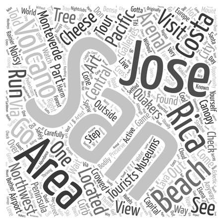 Where To Go Costa Rica word cloud concept 向量圖像
