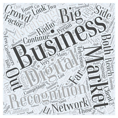 What Is The Big R For Marketing Your Business word cloud concept