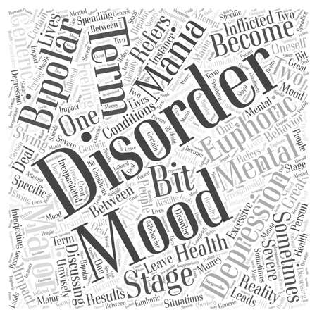 What is a Mood Disorder word cloud concept 向量圖像