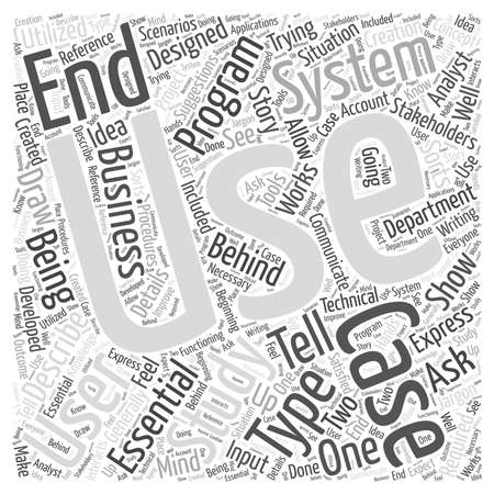 what are use case studies word cloud concept