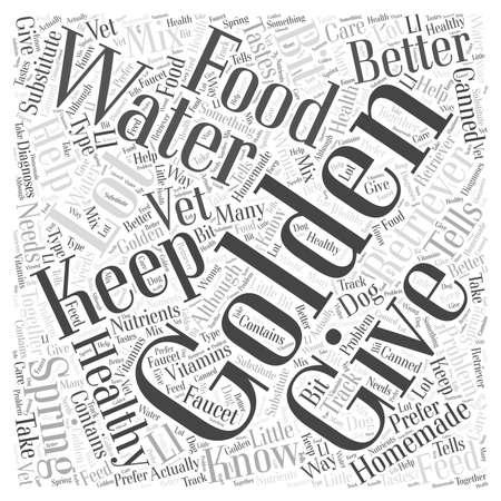 Keeping Your Golden Retriever Healthy word cloud concept