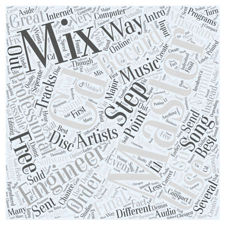 Intro To CD Mastering word cloud concept