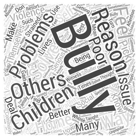 Why Do Children Bully word cloud concept