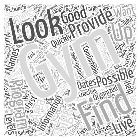 Important Things to Look for in a Gym word cloud concept
