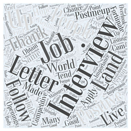 overlook: Importance of a Thank You letter word cloud concept
