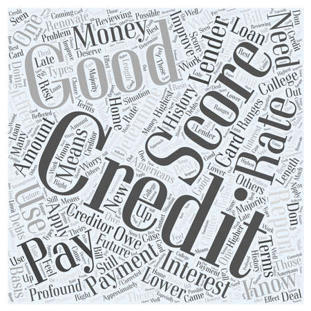 What Is a Good Credit Score word cloud concept