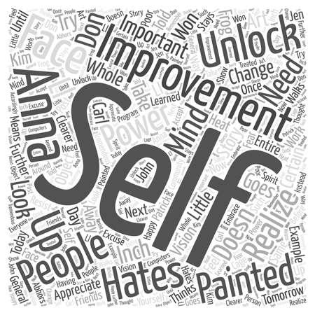 realize: unlock your self improvement power word cloud concept
