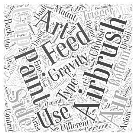 siphon: Types of Airbrushes Available For Airbrush Art word cloud concept