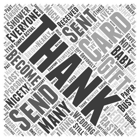 nicety: When to Send Thank You Cards word cloud concept